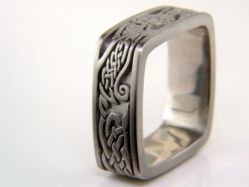 Green lake jewelry works handcrafts celtic inspired rings to order