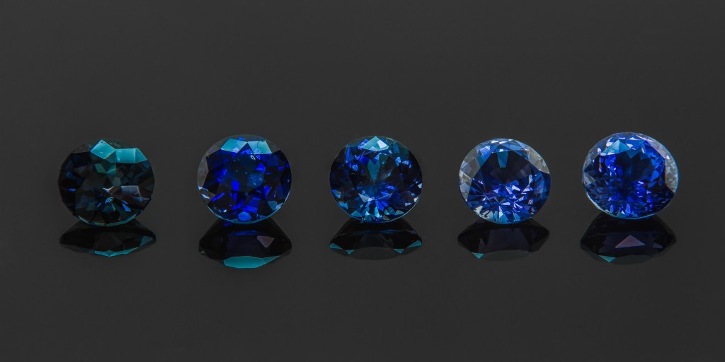 Color is key is assessing a sapphire's value. A sapphire's color determined by its elemental make up. Sapphires with more titanium oxide and less iron will be a more vivid blue.