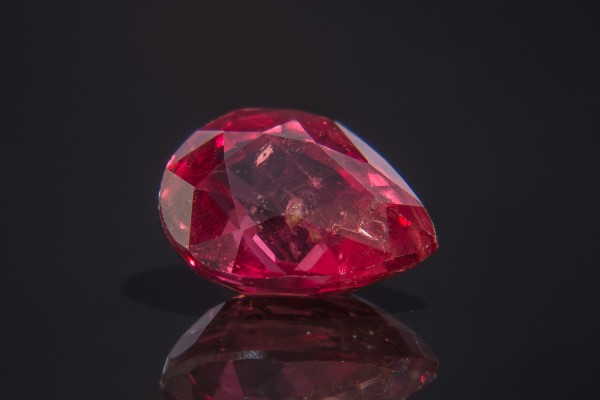 Bixbite is very, very rare. How rare? It's purported that just one red beryl crystal is found for every 150,000 diamonds