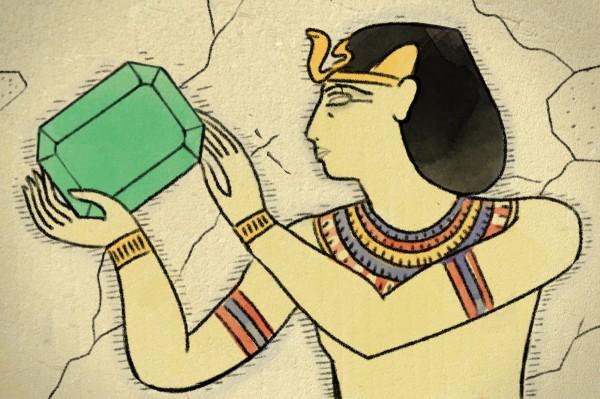 Emeralds originated in ancient Egypt