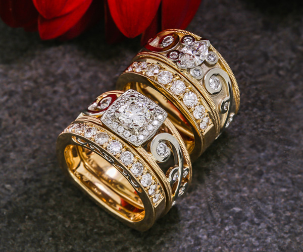 Wedding Ring Inspiration for SameSex Couples Green Lake Jewelry Works